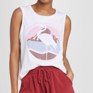 NWT Colsie Cropped Graphic Tank